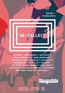 Plakat Ausstellung RE: COLLECT