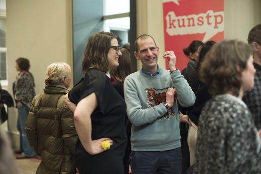Amely Deiss (Kunstpalais) mit Adriano Sack (WELT am Sonntag), Foto: Erich Malter