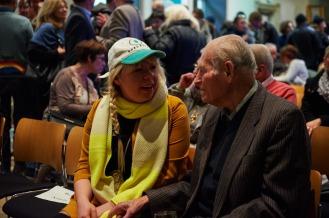 Künstlerin Claudia Holzinger mit Artur Teller, Foto: Markus Faber