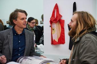 Notar Christoph Diel mit Maler Lars Teichmann, Foto: Markus Faber