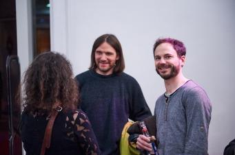Periglazialmorphologe Andreas Döringer und Nico Glökler (Gründer Yoga Friedrich 31), Foto: Markus Faber
