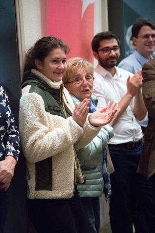 Irene Teller, 3.v.l. und Stadtrat Munib Agha (SPD), 4.v.l., Foto: Claudia Holzinger