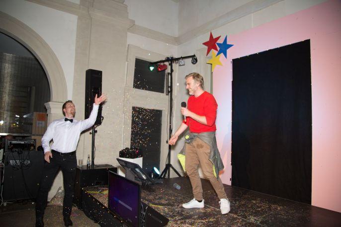 Grafiker Florian Frohnholzer (rechts), Foto: Claudia Holzinger
