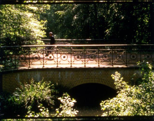 "Rodney Graham, ""Phonokinétoscope"", 2001, (Filmstill), Installation bestehend aus 16-mm-Farbfilm, Projektor, Plattenspieler, Synchronisator, Maße variabel, Foto: Florian Kleinefenn"