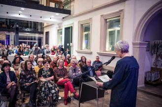 Anne Reimann, Leiterin des Kulturamts, Foto: Kilian Reil, Ausstellungseröffnung 2018, Altered States, Anne Reimann, Leiterin des Kulturamts