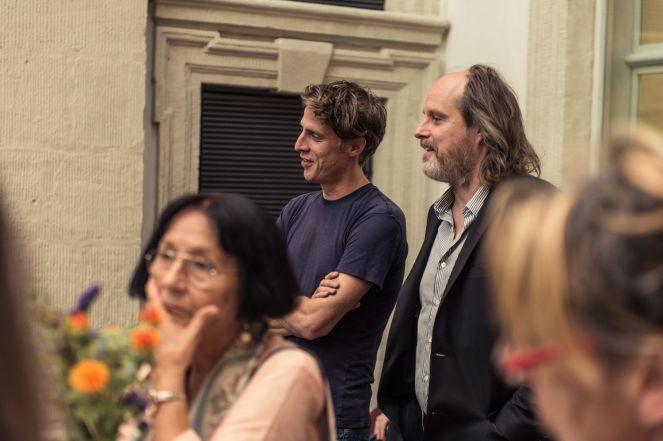 Rinus Van de Velde (Künstler) und sein Galerist Tim Van Laere, Foto: Kilian Reil