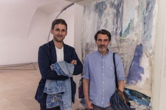 Milan Ther (Direktor, Kunstverein Nürnberg) / Prof. Michael Hakimi (AdBK Nürnberg), Foto: Kilian Reil