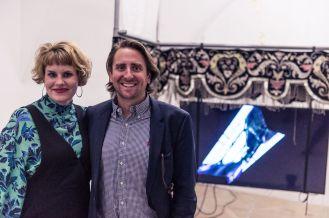 Johanna Berges-Grundert (Freunde des Kunstpalais e.V.) und Benjamin Ammon (Vorsitzender, Freunde des Kunstpalais e.V.), Foto: Kilian Reil