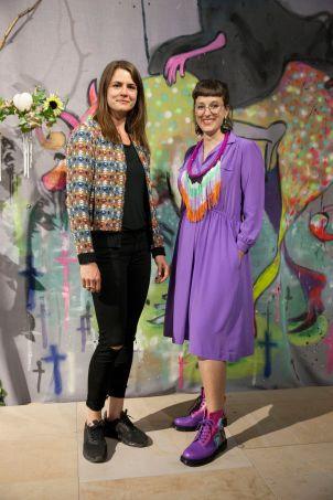 Milena Mercer (Sammlungskuratorin des Kunspalais) und Amely Deiss (Leiterin des Kunstpalais), Foto: Jonas Höschl