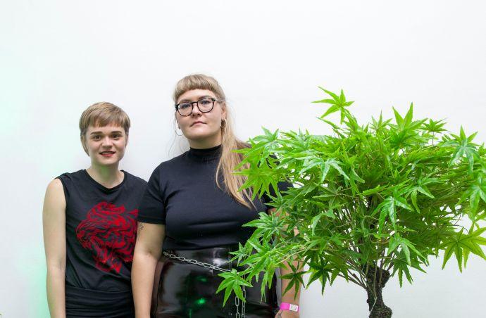 Julia Hainz und Carmen Westermeier (Künstlerinnen), Foto: Jonas Höschl