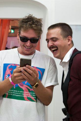 Michael Ullrich (Künstler) und Frédéric Schwilden (WELT), Foto: Jonas Höschl