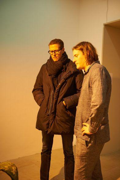 Alexander Sies (Sies+Höke, Düsseldorf) und Julian Charrière, Foto: Markus Faber