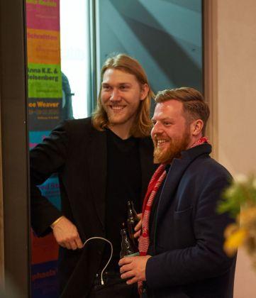 David Schlechtriem (Studiomanager von Julian Charrière) und Nils Petersen (alexander levy, Berlin), Foto: Markus Faber