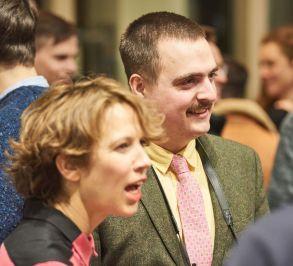 Alona Rodeh, Künstlerin, Berlin; Frédéric Schwilden, Journalist, WELT; Foto: Markus Faber