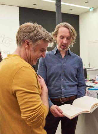 Florian Frohnholzer, sofarobotnik; Andreas Schmitten, Künstler, Neuss; Foto: Markus Faber