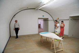 Frédéric Schwilden, Journalist, WELT; Amely Deiss, Leiterin des Kunstpalais; Ragnar und Flora Schwilden; Foto: Markus Faber