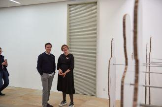 Christian Meier, Kunstpalais, und Johanna Berges-Grunert, 1. Vorsitzende Freunde des Kunstpalais e.V., Foto: Markus Faber