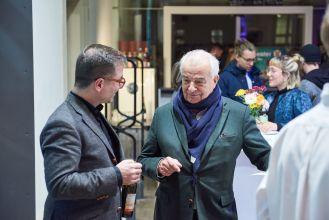 Christian Malycha, Kerber Verlag, und Jürgen Becker, Jürgen Becker Galerie, Hamburg, Foto: Markus Faber