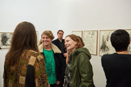 Mielna Mercer, Kunstpalais, Harriert Zilch, Kunsthalle Nürnberg und Cornelia Kastelan, Kunstverein Nürnberg, Foto: Markus Faber