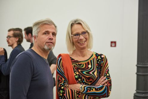 Roger Libesch, Künstler, und Ursula Lanig, SPD-Stadträtin, Foto: Markus Faber