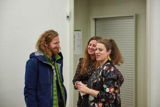 Alexandre Karaivanov, Künstler, und Laura Capalbo-Gans, Kunstpalais, Foto: Markus Faber