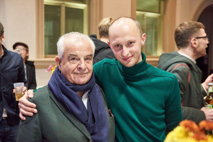Jürgen Becker, Jürgen Becker Galerie, Hamburg, und Gerrit Frohne-Brinkmann, Künstler, Foto: Markus Faber