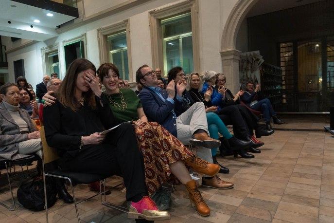 Milena Mercer, Kuratorin der Ausstellung und kommissarische Leiterin des Kunstpalais, Amely Deiss, Leiterin des Kunstpalais und Dr. Florian Janik, Oberbürgermeister der Stadt Erlangen, Foto: Kimberly Banschbach