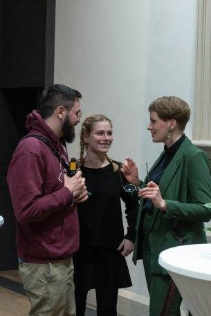 Andreas Schropp und Johanna Berges-Grunert (rechts), Kunstpalais, Foto: Kimberly Banschbach